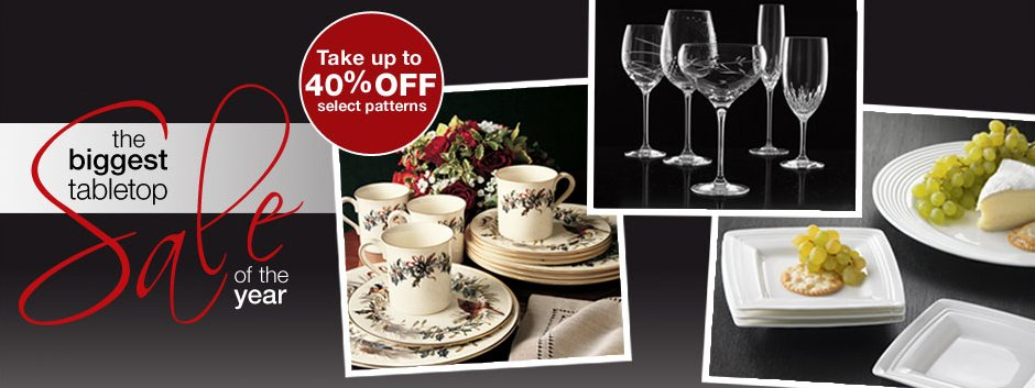 Lenox Biggest Tabletop Sale