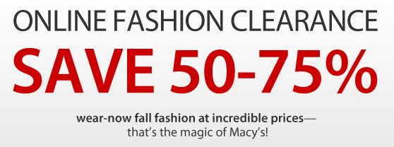 Macy's Online fashion clearance