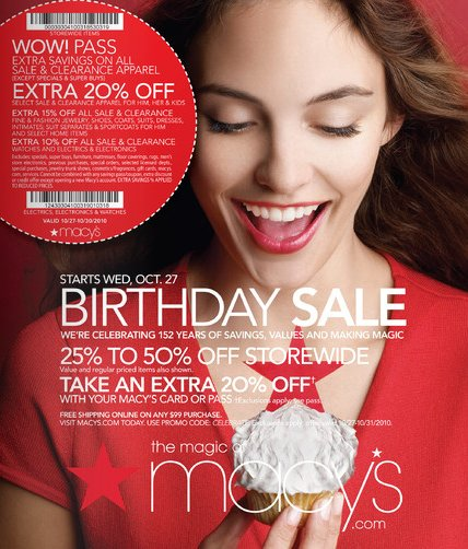 Macy's Birthday Sale
