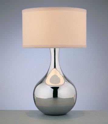 Mercury Chrome Table Lamp
