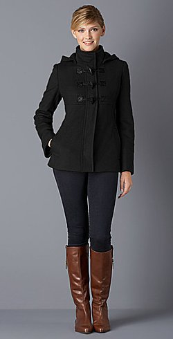 michael kors hooded toggle coat