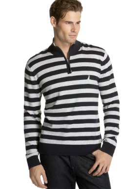 Nautica Striped 1/4-Zip Sweater