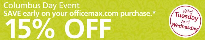 office max columbus day event