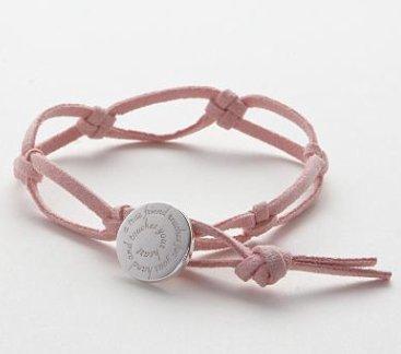 Pink Knot Friendship Bracelet