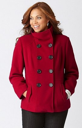 plus size wool peacoat