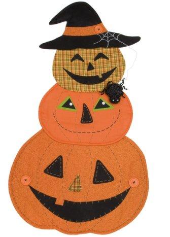 Stacked Pumpkin Door Greeter
