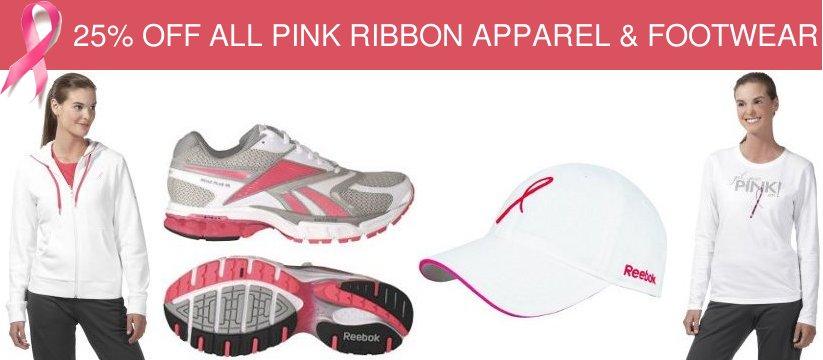 reebok pink ribbon collection