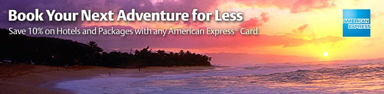 Save on Hotels and Packages with American Express Card