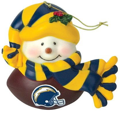 SC Sports San Diego Chargers Musical Light Up Snowman Ornament