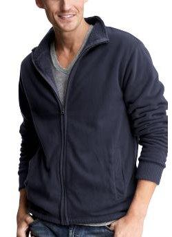 sherpa-lined full-zip jacket