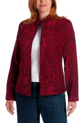Solid Jacquard Chenille Jacket