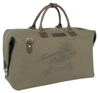 Tommy Bahama Leather Trimmed Weekender Duffle