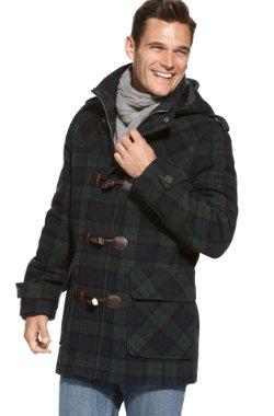 tommy hilfiger wool toggle coat