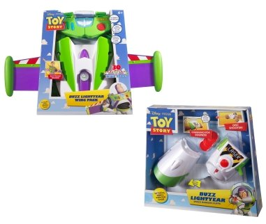 Toy Story Buzz Lightyear Wing Pack + Buzz Cuffs Set