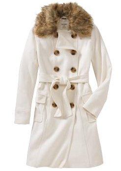Women's Wool-Blend Trench Coat