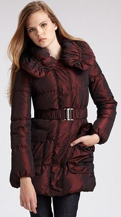 Burberry London Ruffled Puffer Jacket
