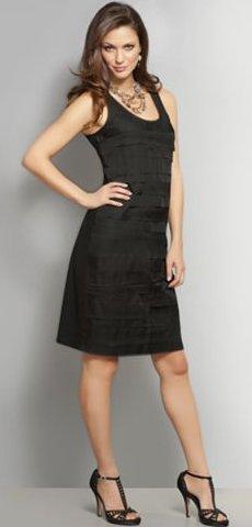 NYandC Red Label Chiffon Ruffle Tank Dress