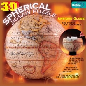 Antique Globe 3D Spherical Jigsaw Puzzle
