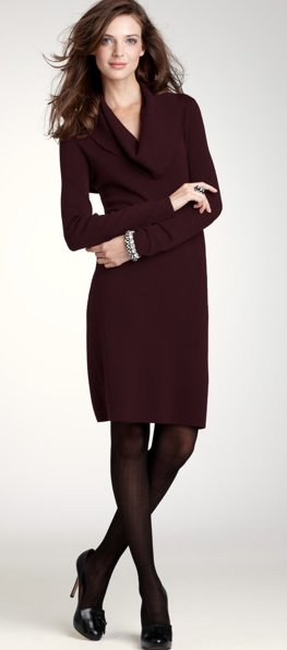 Cowl Neck sweaterdress