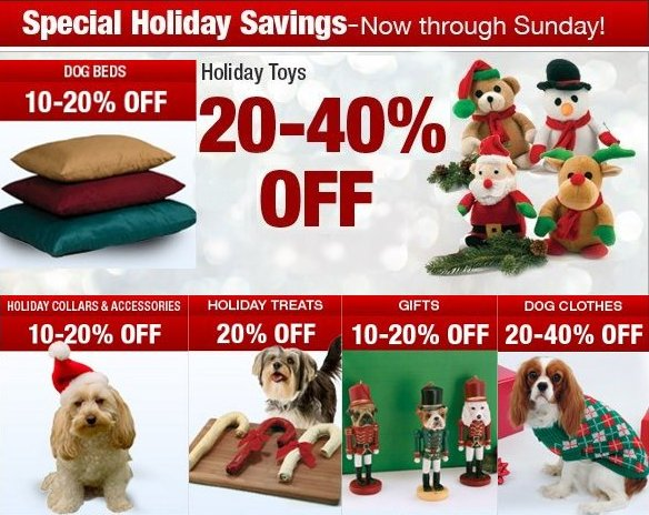 Dog Specials for Holidays
