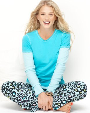 Jenni Pajamas, Long Sleeve Top and Fleece Pants Set