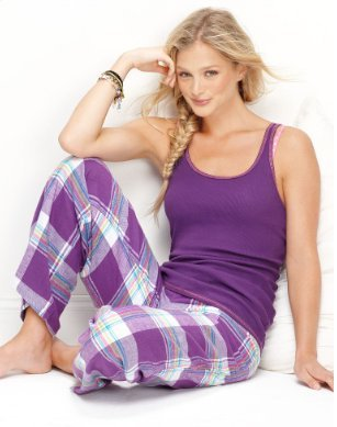Jenni Pajamas, Tank Top and Flannel Pants Set