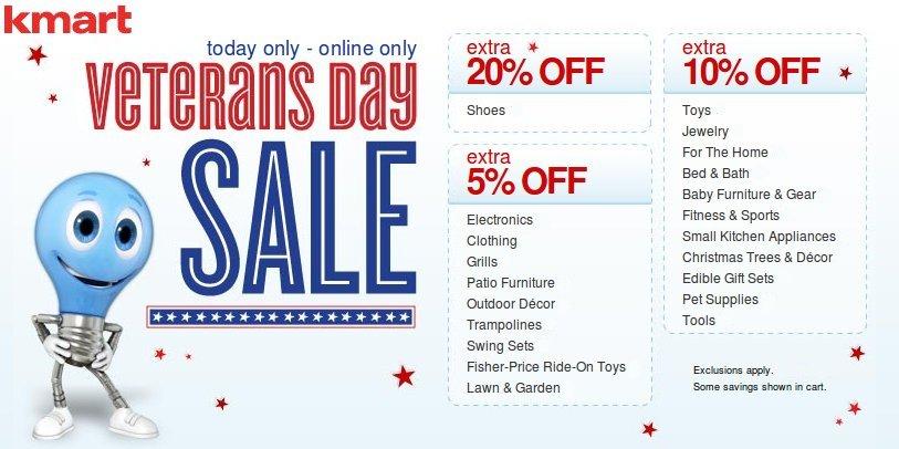 Kmart Veteran's Day Sale