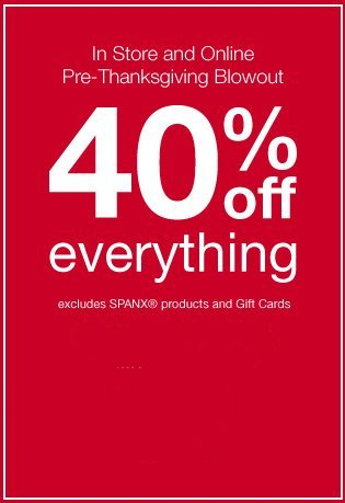 Lane Bryant Thanksgiving offer