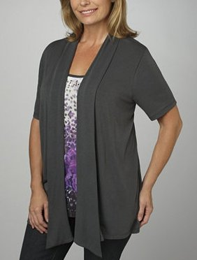 plus size Layered Look Cardigan