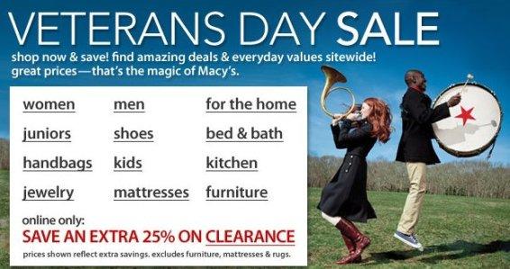 Macys Veterans Day Sale