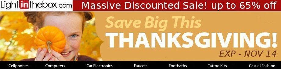 Massive Thanksgiving Sale