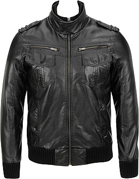 Maison Scotch Leather Jacket With Fur Collar , Color: Black Sales