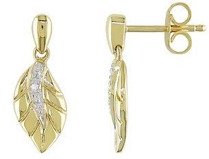 nature inspired leaf earrings