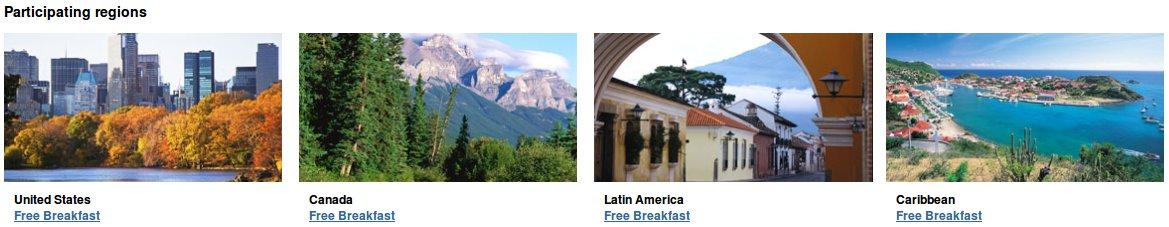 Hotels.com Participating Regions
