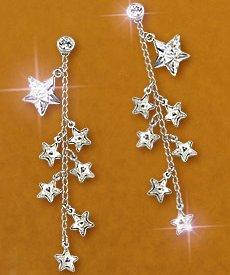 swarovski milky pierced earrings