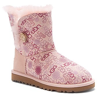 UGG Australia Bailey Button Novelty Baby Pink Logo