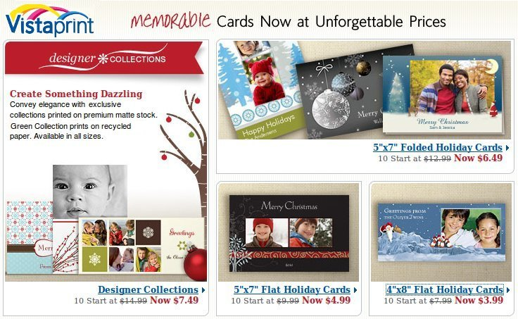 Vista Print Holiday Cards