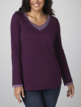 Layered Look V-Neck Tee