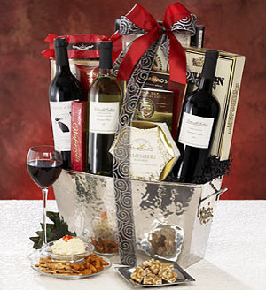 Contemporary Classics 3 Bottle Wine Gift Basket