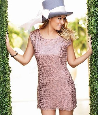 LC Lauren Conrad Sequin Shift Dress