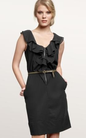 Ruffle zip dress