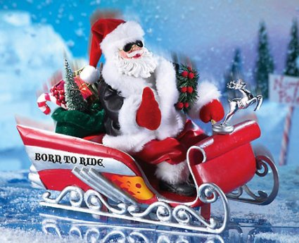 Animated Santa Claus Statue