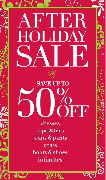 avenue after holiday sale