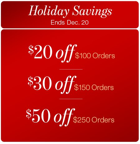 bare necessities holiday savings