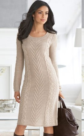 Cable-Knit Sweaterdress
