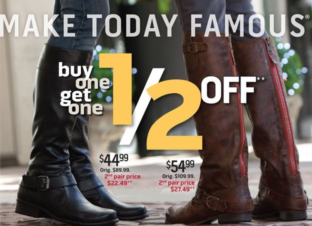 Famous Footwear holiday offer