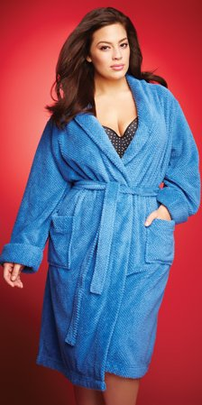 fleece robe with pockets