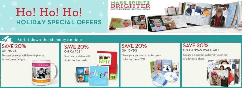 Shutterfly Holiday Specials