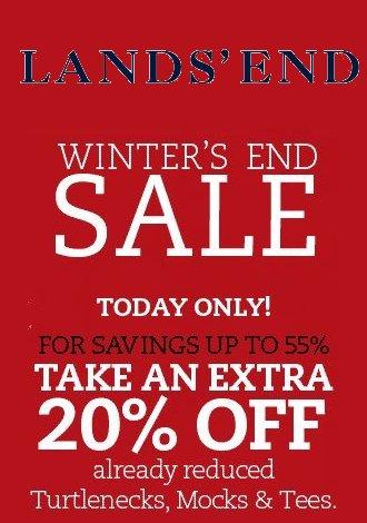 Lands End winter end sale