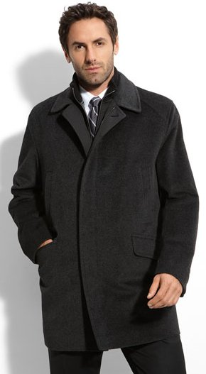 men Angora Blend Coat